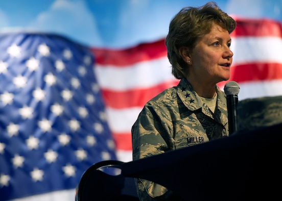 Lt Gen Maryanne Miller, commander, Air Force Reserve Command and chief, Air Force Reserve.