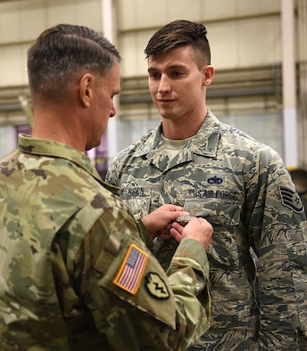 The AIB, awarded in basic, senior and master levels, was created for U.S. Army NCOs in 2014 to recognize the professionalism of the educators responsible for training, leading and mentoring Soldiers