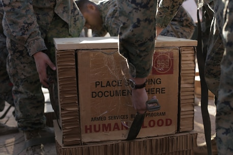 Air Blood Delivery with 1st Marine Logistics Group