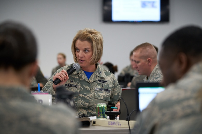 Members of the wing participate in disaster response exercise.