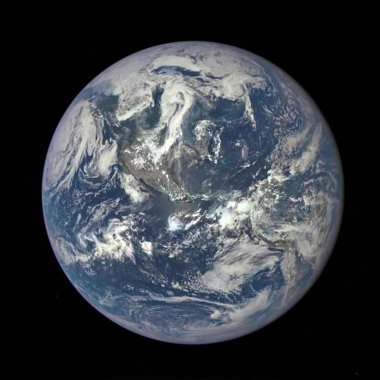 Satellite Image of Earth from one million miles away.