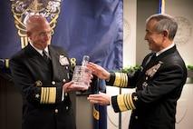 Pacom's Harris Passes 'Old Goat' Award to Southcom's Tidd