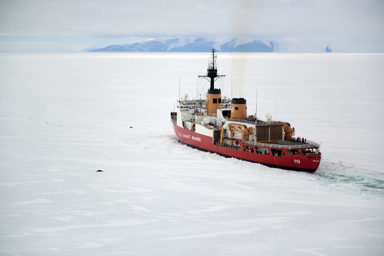 Coast Guard Commandant Adm. Paul F. Zukunft highlighted the important role of icebreakers to maintain defense readiness in the Arctic and Antarctic regions.