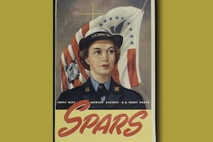A recruiting poster for the women's reserve branch of the U.S. Coast Guard.