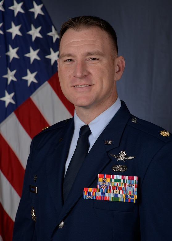 U.S. Air Force Maj. Joshua Aultman, 628th Communications Squadron commander