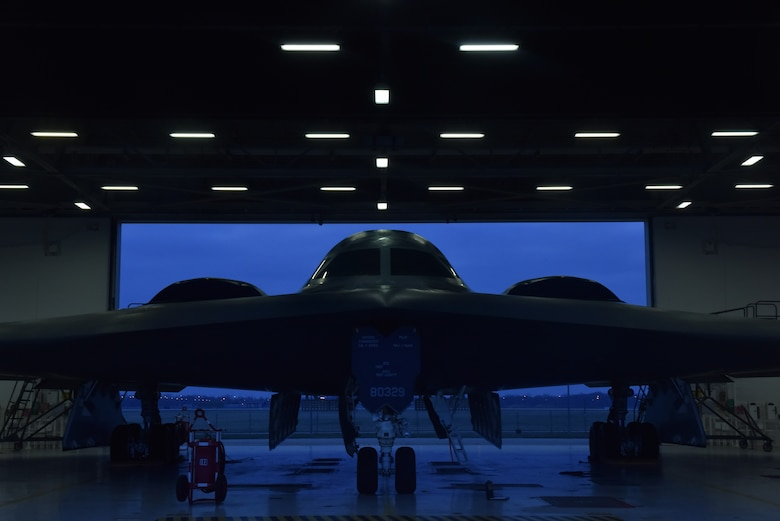 A B-2 Spirit prepped and ready for a mission at Whiteman Air Force Base, Mo., April 10, 2018. The 509th Aircraft Maintenance Squadron consists of approximately 570 personnel tasked with maintaining $15 million worth of equipment and their daily excellence ensures the mission capability of the B-2s. (U.S. Air Force photo by Senior Airman Jovan Banks)