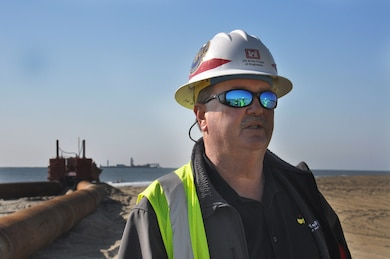 Burt Moore, chief of Dredging, U.S. Army Corps of Engineers, Savannah District talks about the Tybee Island Beach Renourishment Project.