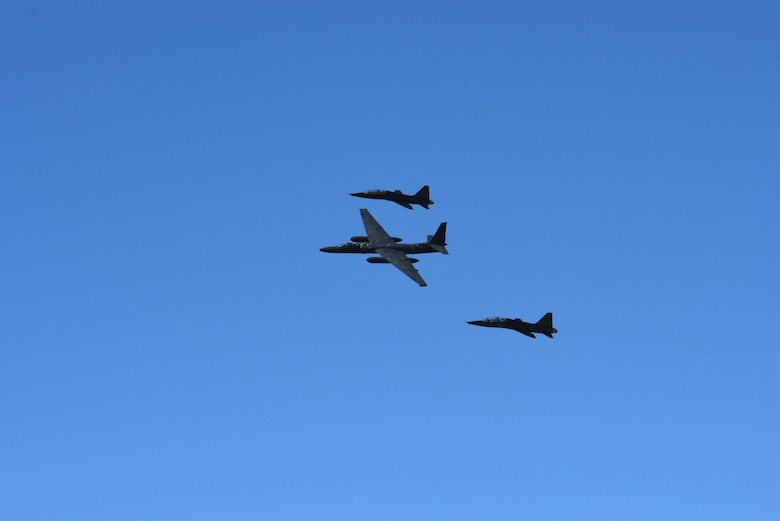 U-2 and T-38 formation flight