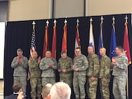 "Lt. Col. Clarence ""Kenny"" Maynus from the 179th Airlift Wing, maintenance group was recognized Feb. 16, 2018 for his contributions to the Ohio National Guard in 2017 by earning the Major. Gen. Wayt Visionary Leadership Award. 