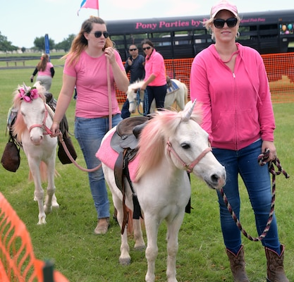 Unicorns are real?!? Well, maybe not, but the kids at the pony rides sure enjoyed riding them during the annual Cowboys and Heroes event held at MacArthur Parade Field at Joint Base San Antonio-Fort Sam Houston April 14.