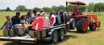 A leisurely hayride was one was to get around at the annual Cowboys and Heroes event held at MacArthur Parade Field at Joint Base San Antonio-Fort Sam Houston April 14.