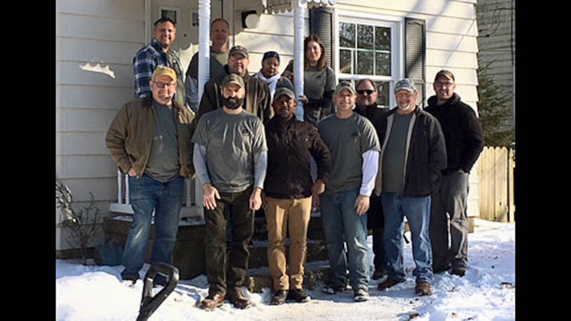 Twelve Defense Contract Management Agency Grand Rapids team members volunteered to renovate a local veteran's new home.