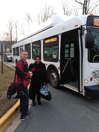 The Quantico VRE shuttle services uses both buses and vans to transport employees aboard Quantico to and from the train station. The Quantico VRE shuttle service starts running at 5:20 a.m. and the last ride to the train depot is at 6:17 p.m.