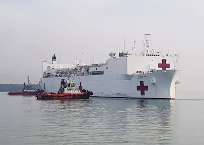 USNS Mercy arrives in Malaysia for Pacific Partnership