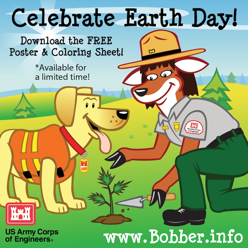 Download a free Bobber Earth Day poster & coloring sheet at www.bobber.info