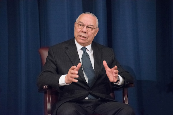Colin Powell Addresses National Defense University.