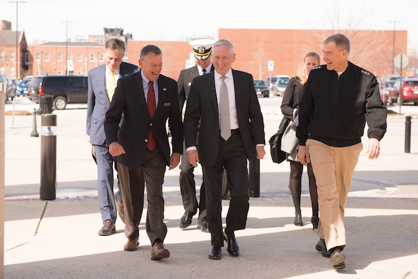 On Thursday, March 22, 2018, Secretary of Defense James Mattis visited the KEYSTONE course at the National Defense University.