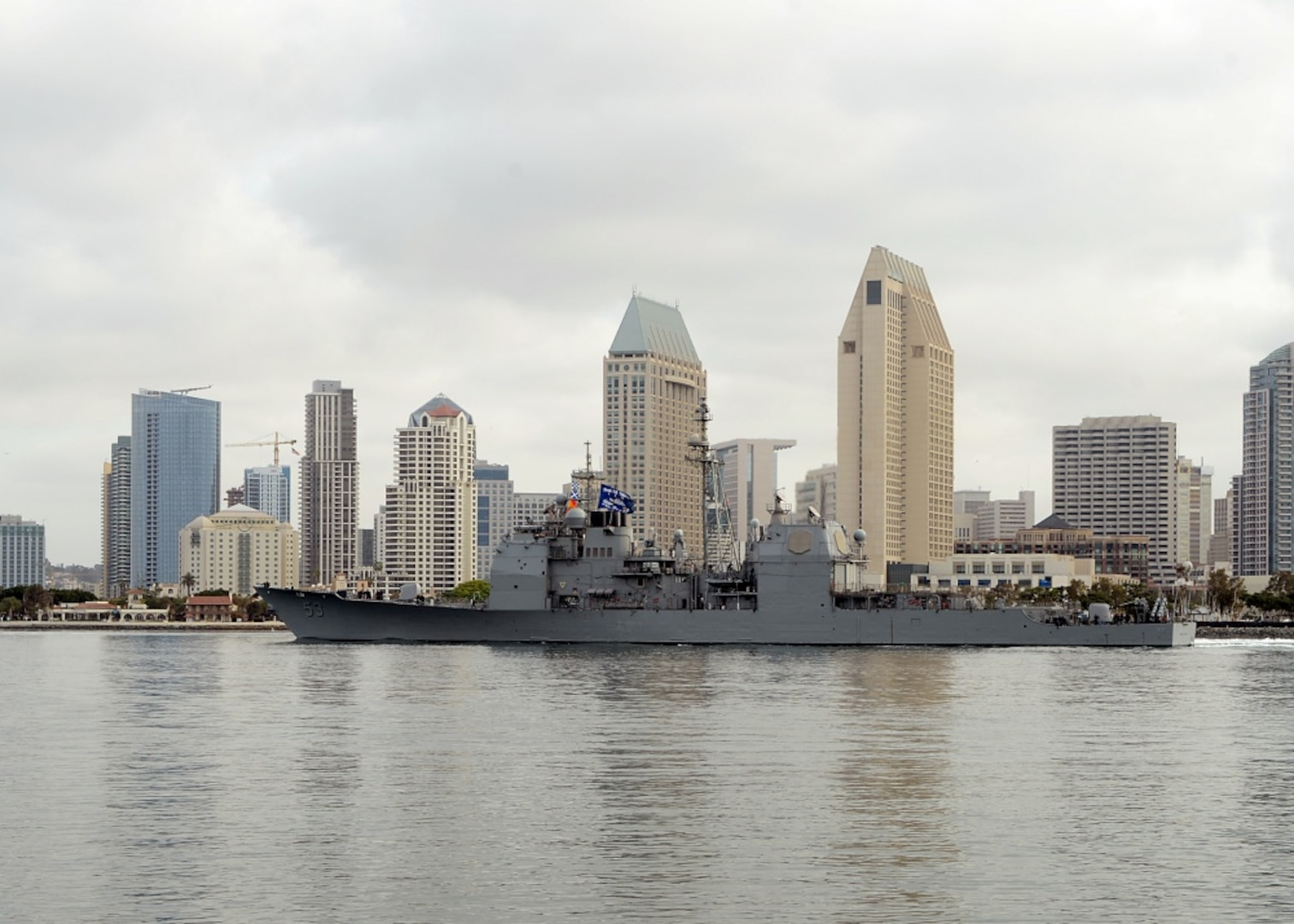 John C. Stennis Carrier Strike Group Cruiser-Destroyer Warships Underway for Surface Warfare Advanced Tactical Training