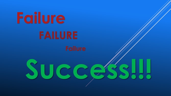 Graphic:  Failure, Failure, Failure, Success!!!