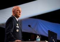 Gen. Jay Raymond addressing 34th Space Symposium