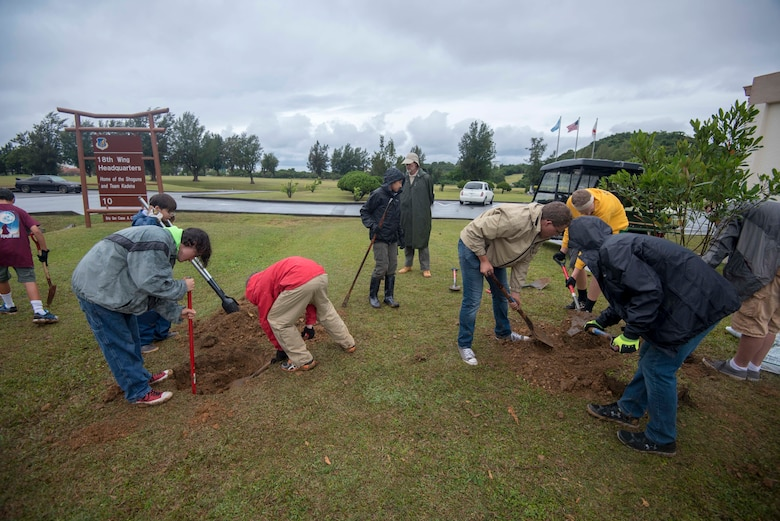 718th CES and Boy Scouts commemorate Earth Day