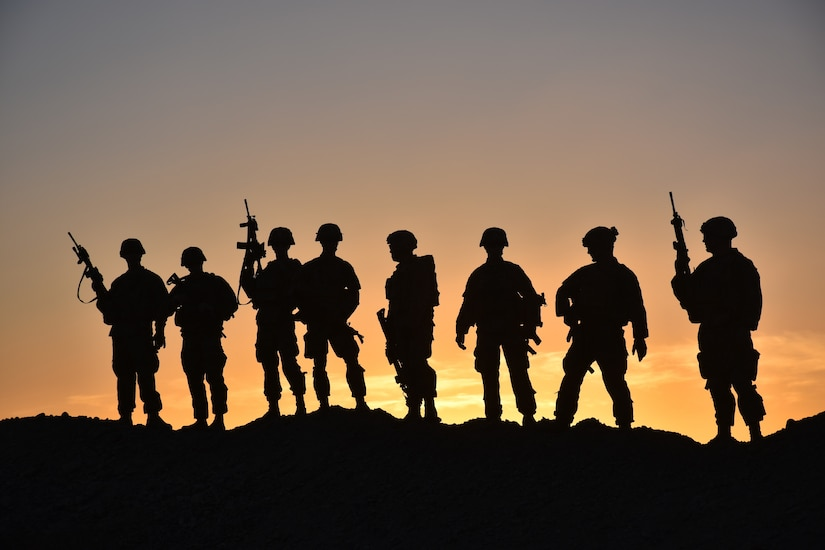 Soldiers from Task Force Stalwart, composed of soldiers from 1st Battalion, 41st Infantry Regiment, 2nd Brigade Combat Team, 4th Infantry Division, pose for a group photo in Afghanistan.