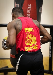 Cpl. Oubigee Jones practices striking techniques aboard Marine Corps Air Station Beaufort April 17.