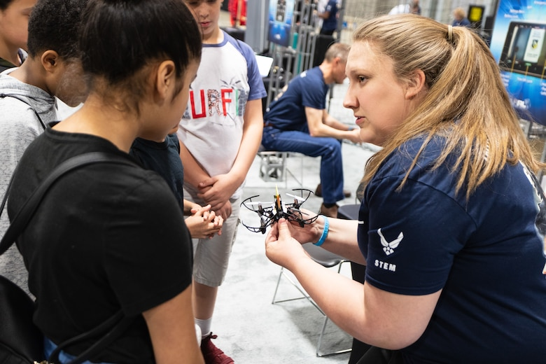 AFRL scientists and engineers inspire the future STEM workforce with experiments and hands on activities at the 5th annual USA Science and Engineering Festival Expo at the Walter E. Washington Convention Center in Washington, D.C. April 6-8, 2018. (U.S. Air Force photo/Brian Mitchell)