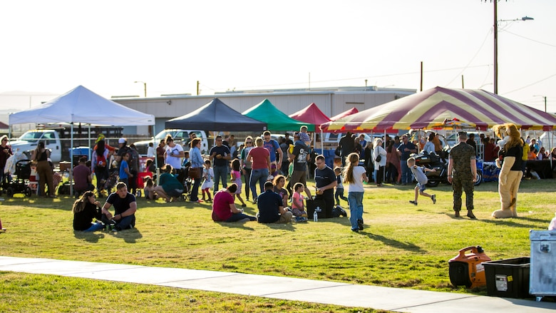 The 4th Annual Earth Day Extravaganza is held at Lincoln Military Housing Athletic Field aboard the Marine Corps Air Ground Combat Center, Twentynine Palms, Calif., April 13, 2018. The purpose of the extravaganza is to bring families together and educate them on how to be better stewards of the Earth's resources. (U.S. Marine Corps photo by Lance Cpl. Rachel K. Porter)