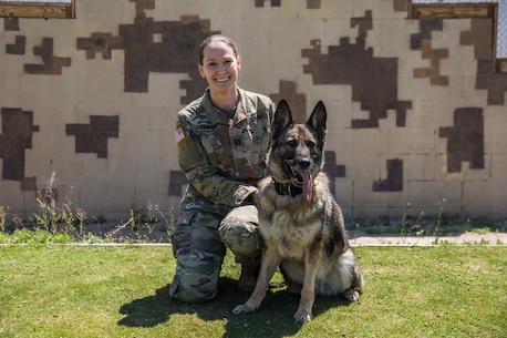 Capt. Candace Wimbish, chief, Mojave Branch Veterinary Services, U.S. Army Public Health Command, Fort Hood, Texas, serves as the installation veterinarian for the Marine Corps Air Ground Combat Center, Twentynine Palms, Calif. On March 16, 2018, Wimbish helped save a motorcyclist's life after a car accident on Highway 62. (U.S. Marine Corps photo by Lance Cpl. Margaret Gale)