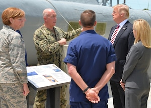 President Trump speaks to military officials in Key West, Fla.