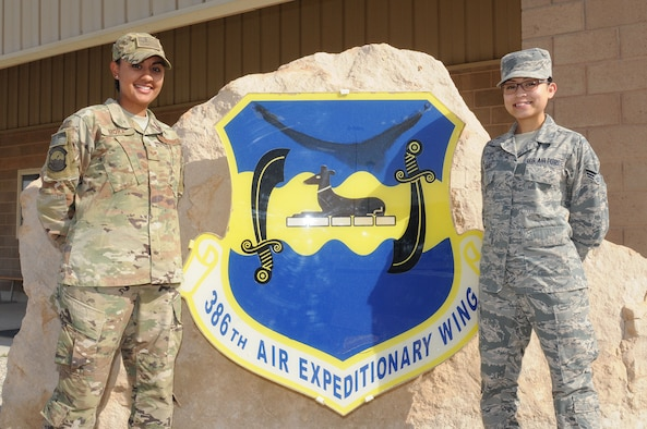 Mora and Delgado are step-sisters deployed from the 944th Fighter Wing, Luke Air Force Base, Arizona, and have consistently been linked together throughout their lives and currently find themselves together again, at an undisclosed location in Southwest Asia.