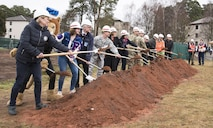 U.S. Army Corps of Engineers Europe District broke ground on Ramstein High School on March 28, with partners from Ramstein High School, the Department of Defense Education Activity Europe, the U.S. Air Force, the Federal Office for Federal Construction (ABB), and the German regional construction office (LBB).