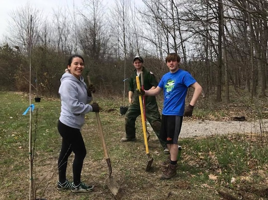 This year for Earth Day the rangers at Alum Creek, along with some AMAZING volunteers, planted 75 native trees and shrubs around the Visitor Center! What a great way to give back to the planet!