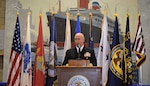 Admiral Kurt Tidd speaks at the U.S. Merchant Marine Academy.