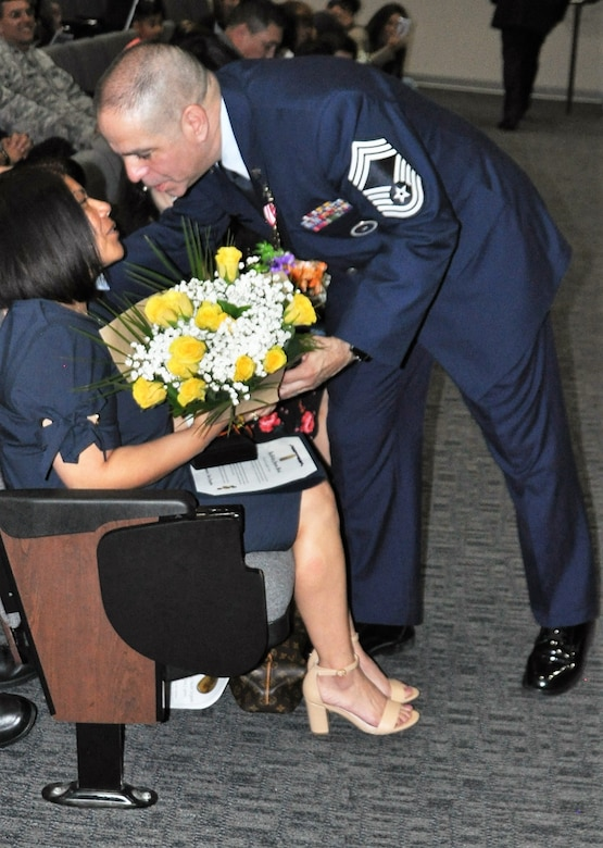 CMSgt Gomez retires from 433rd TRS