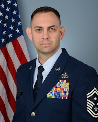U.S. Air Force Senior Master Sgt. Alex Gross, the first sergeant assigned to the 169th Fighetr Wing, at McEntire Joint National Guard Base, S.C, March 2, 2018. (U.S. Air National Guard photo by Senior Airman Megan Floyd)