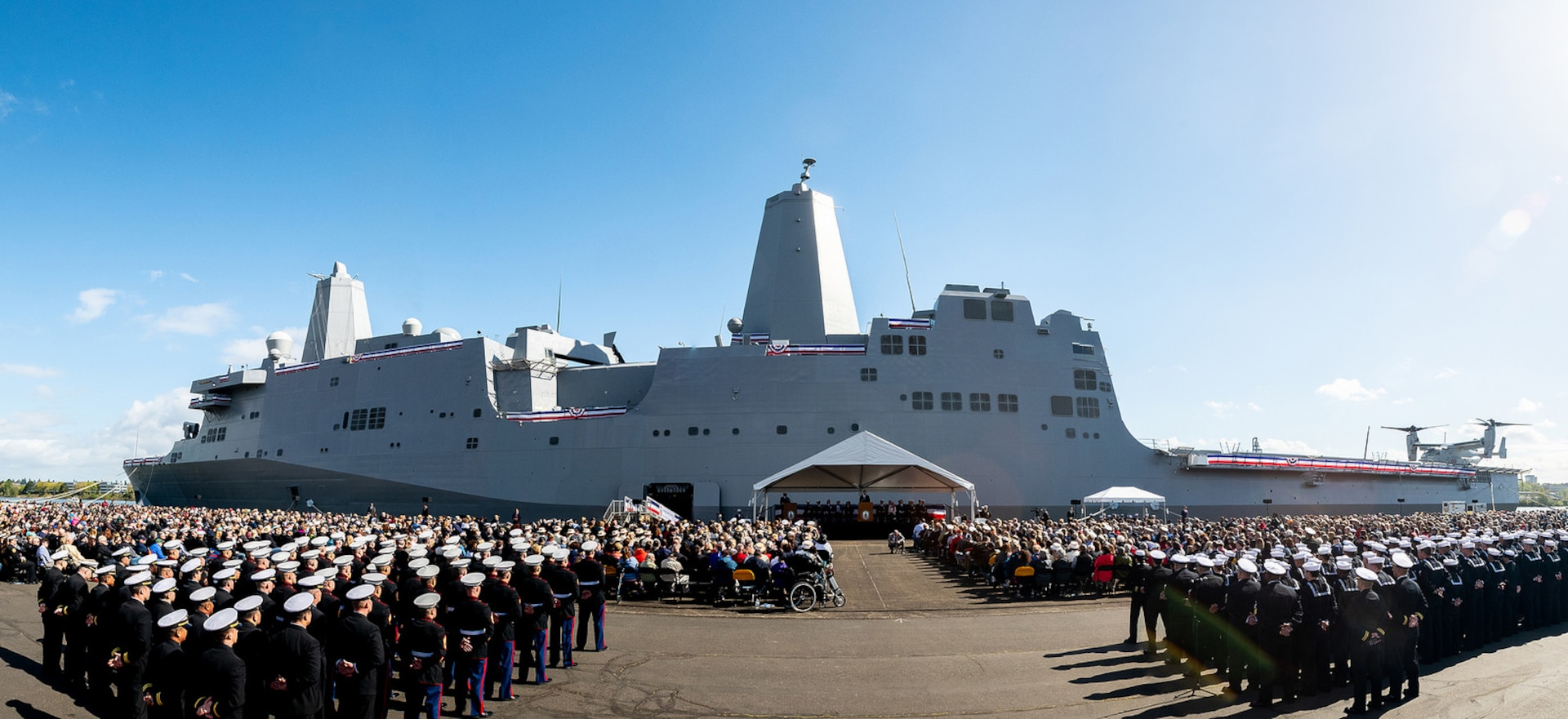 USS Portland commissioned in namesake city