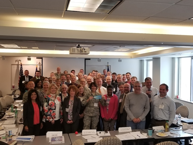 More than 70 representatives from major commands and functional communities across the Air Force gathered in Arlington, Virginia, April 11-13, 2018, to collaborate on the way forward for defining an enterprise-wide, scalable capability that makes data Visible, Accessible, Understandable, Linked, and Trustworthy