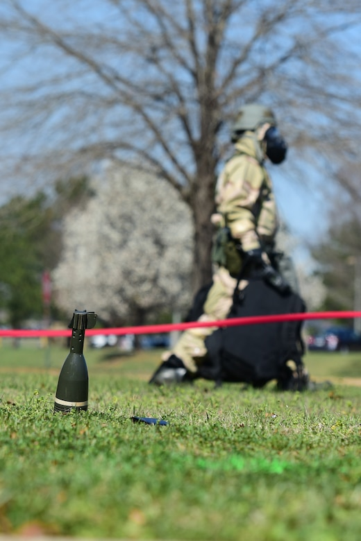 U.S. Air Force Airmen, assigned to the South Carolina Air National Guard's 169th Fighter Wing, participate in an exercise that measures the ability to survive and operate in chemical warfare equipment at McEntire Joint National Guard Base, S.C., March 3, 2018. Swamp Fox Airmen continue to hone routine skills to meet combatant command requirements. The muscle memory that is formed by using this equipment multiple times allows Airmen the ability to focus their attention on completing the mission under austere conditions.  (U.S. Air National Guard photo by Senior Airman Megan Floyd)