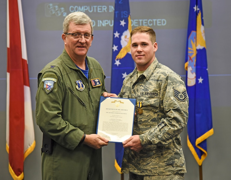 Staff Sgt. Halbert Receives Commendation Medal