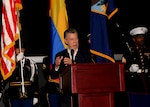 Colombian President Juan Manuel Santos speaks at U.S. Southern Command