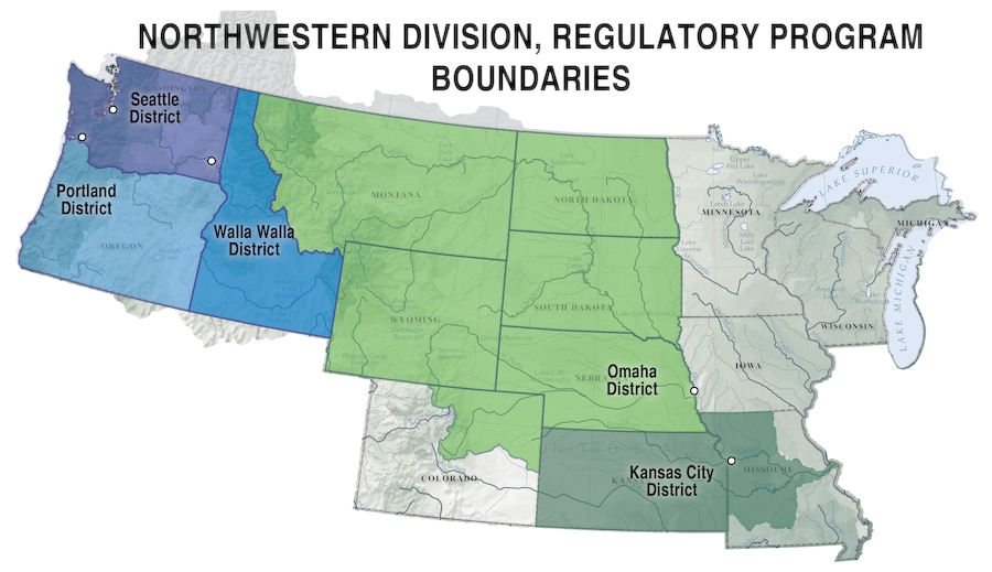 NWD Districts Regulatory Map
