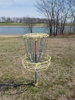 Disc golf is an up and coming game. The courses are often nine or 18 holes and players toss a flying disc into a basket known as the target. 