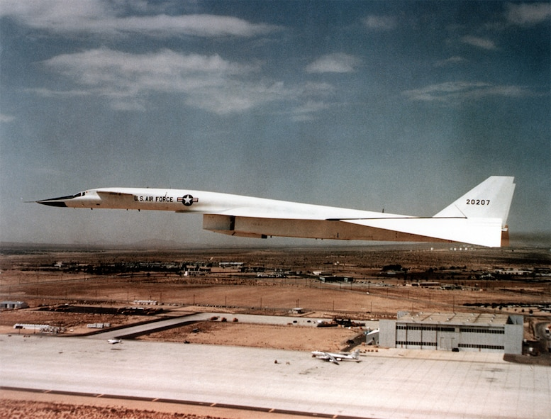 #OTD 30 Apr 1966 at Edwards - Air Force Flight Test Center test pilot Col. Joseph F. Cotton saved XB-70 Valkyrie #2 from destruction following an in-flight emergency in which the landing gear failed to lower into position.  He crawled to a relay box containing two malfunctioning terminals and short-circuited them with a paper clip, whereupon the gear extended normally.