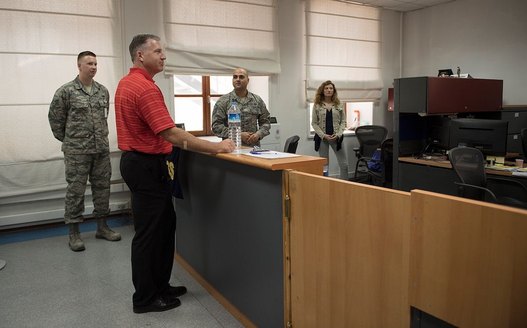 Commander speaks to Command Staff individuals