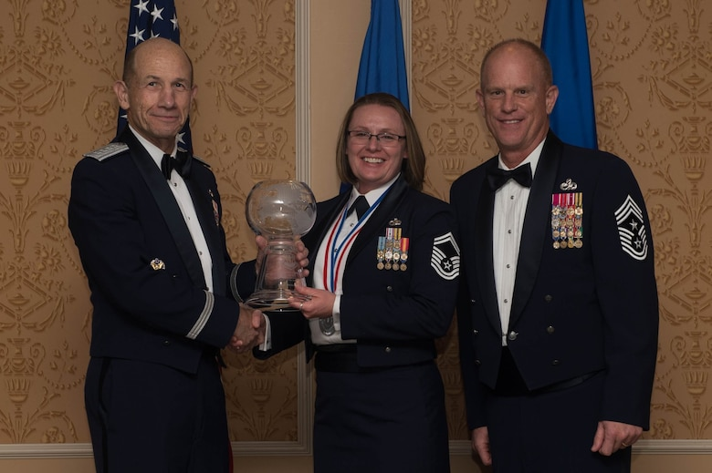 ACC Outstanding Senior Non-commissioned Officer of the Year, Senior Master Sergeant Melissa Beam, 25th Air Force