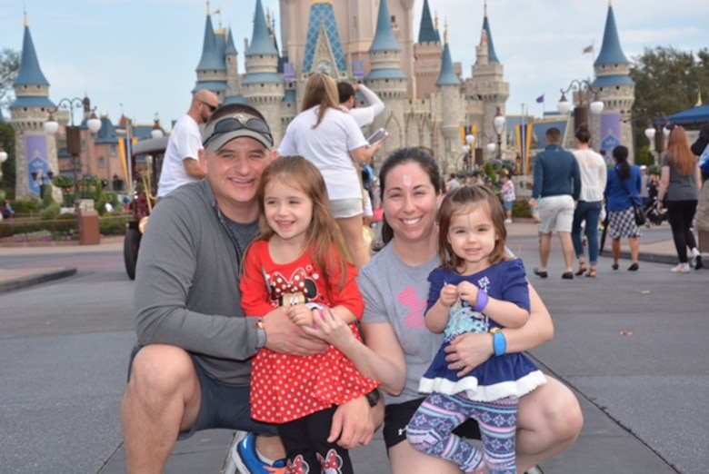 Jennifer and Shane Garrison explore Disney World with their two daughters Sydney, now age 4, and Lillian, now age 2, during a trip January 2018.