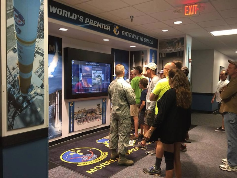 The 45th Space Wing hosted its second annual Cape Family Day April 21, 2018 at Cape Canaveral Air Force Station, Fla. More than 2,500 visitors travelled to Cape Canaveral Air Force Station to observe various attractions, immerse themselves in the rich space culture and spend quality time with their loved ones. (U.S. Air Force photo by Airman 1st Class Zoe Thacker)
