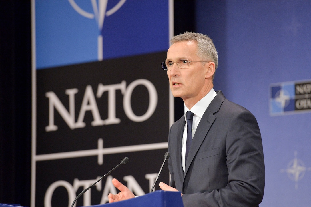 There has been progress in Afghanistan, with Afghan forces fully in charge of their security, NATO Secretary General Jens Stoltenberg said to reporters in Brussels.